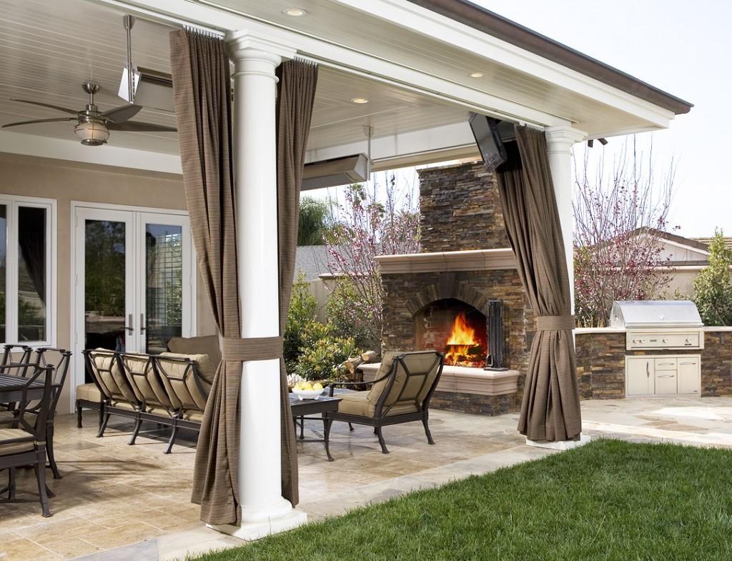 Дизайн веранды загородного дома фото