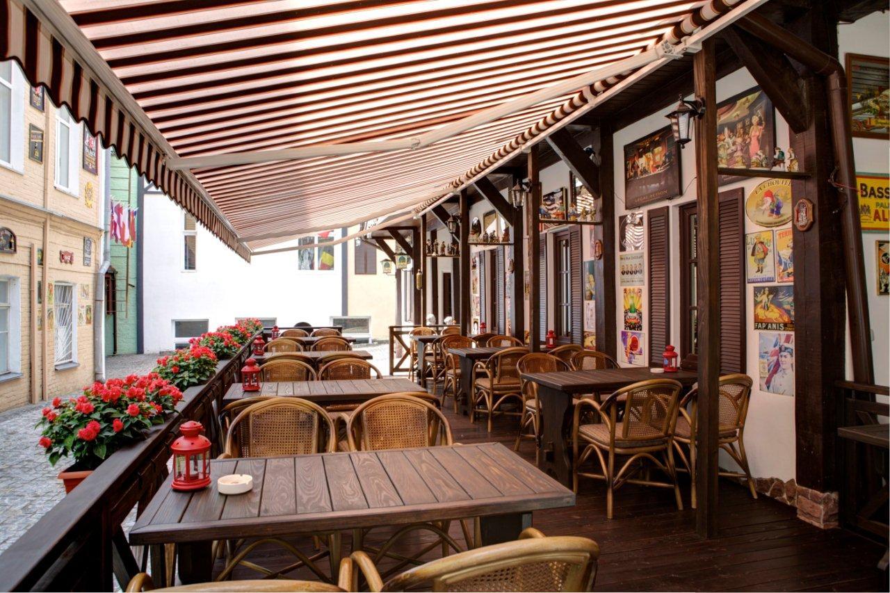 Открытое летнее кафе дизайн